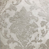 500043 Ivory rustic Beige Damask Wallpaper