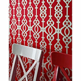 WM95060501 Spice Red Glitter Silver Gold Textured Geometric Balustrade Railings Wallpaper