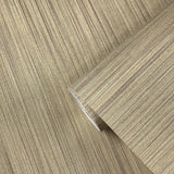 135039 Grasscloth Beige Yellow Stria Stripes Wallpaper