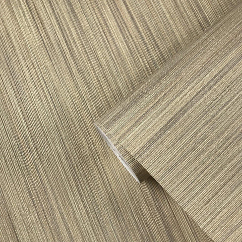 135039 Grasscloth Beige Yellow Stria Stripes Wallpaper - wallcoveringsmart