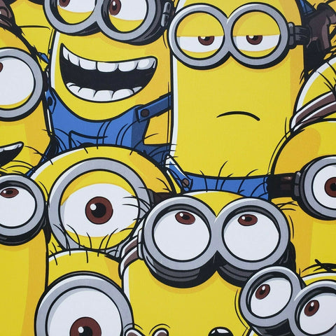WM11501 Despicable me Minions Yellow Blue 3D Kids Room Wallpaper