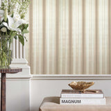 8523-06 Striped Beige Nude Glitter Wallpaper