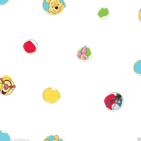 Disney DF70599 Winnie the Pooh Multi Polka Dot Wallpaper