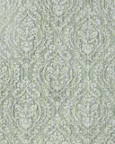 5527-04 Lime Green Damask - Double roll Wallpaper