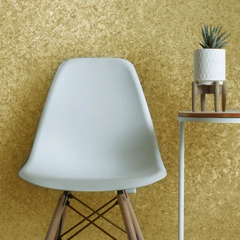8513-05 Gold Textured Plain Wallpaper
