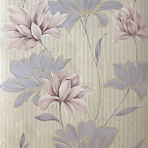 Floral Duplex Wallpaper - Double roll