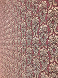 V303-02 Maroon Burgundy Damask Wallpaper Roll