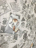 C791-10 Newspaper Coffee Kitchen Cafe Wallpaper Roll