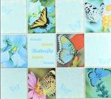 C932-03 Blue Butterfly Tile Floral Wallpaper