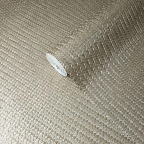 Z44863 Lamborghini wicker bamboo bronze brass gold Metallic textured Wallpaper - wallcoveringsmart