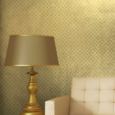 700020 Gold Metallic Monogram Raport Wallpaper