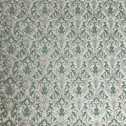 4505-04 Slavyanski Floral Victorian Vintage damask green brass metallic Textured Wallpaper