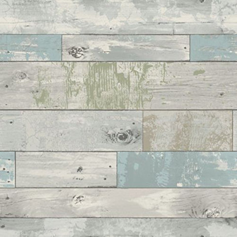 NU1647 Wood Planks Distressed Beachwood Wallpaper