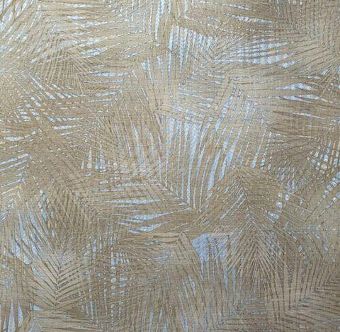Z44862 Lamborghini Floral Tropical Palm bamboo gold Silver metallic textured Wallpaper - wallcoveringsmart