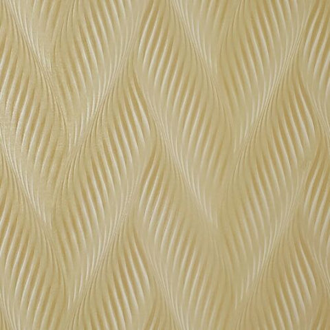 Wallpaper yellow ivory cream gold metallic faux stroke plaster stone Textured 3D