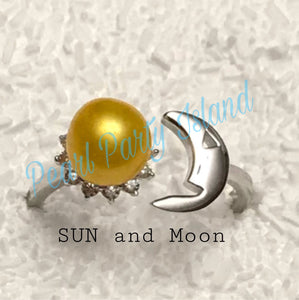 SUN and MOON Ring (Adjustable size 6-8)