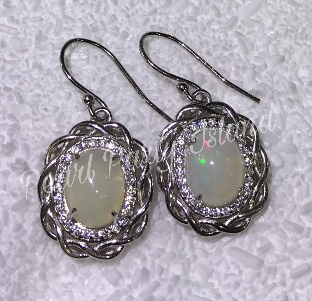 Cabochon Earrings -- Custom Design- Classic Style