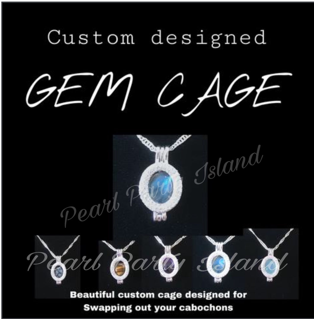 CUSTOME GEM CAGE (Cabochon cage)