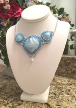 """Blue Tide"" Seashell Necklace"