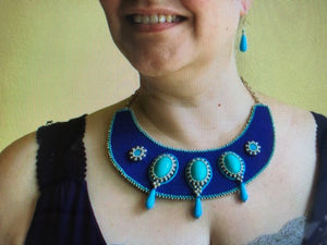 """Nefertiri"" Royal Collar Necklace"