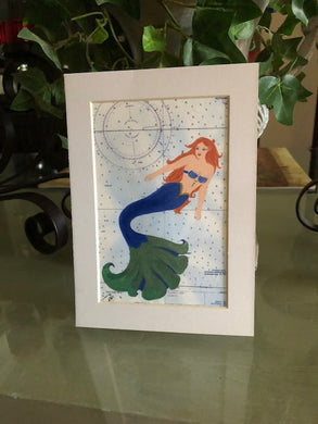 Blue and Green Tail Mermaid Print