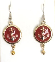Anchor Medallion Earrings