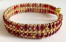 Ruby Red and Gold Bracelet