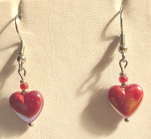Iridescent Heart Earrings