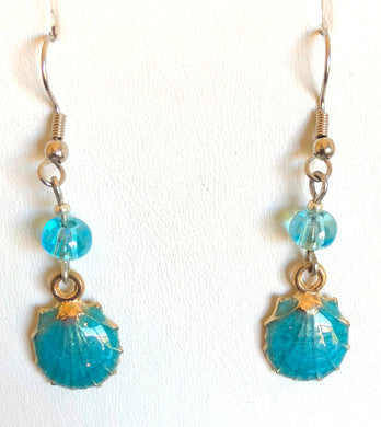 Colorful Scallop Shell Earrings