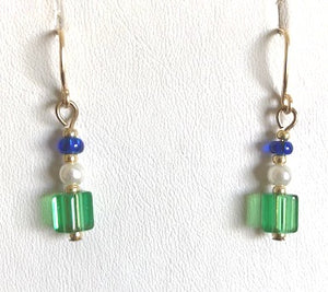 Swarovski Pearl and Cut Glass Earrings