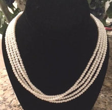 Four Strand Faux Pearl Necklace