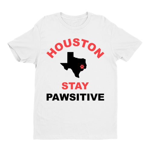 Houston Stay Pawsitive Mens Tee
