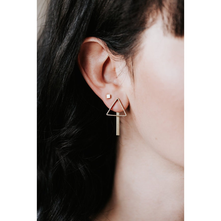 Arrow Bar Jacket Earrings