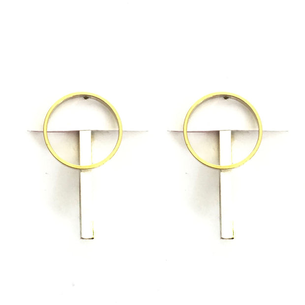 Bar Jacket Earrings