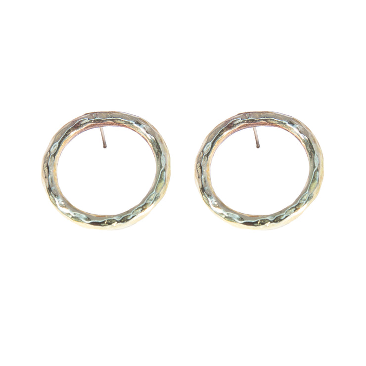 Hammered Halo Earrings