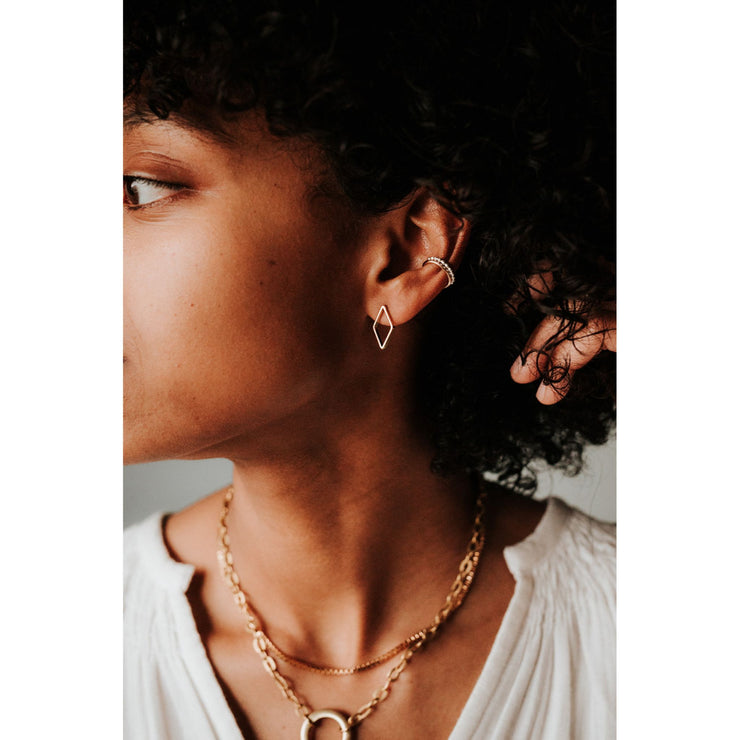 Squared Snake Chain Necklace - GF