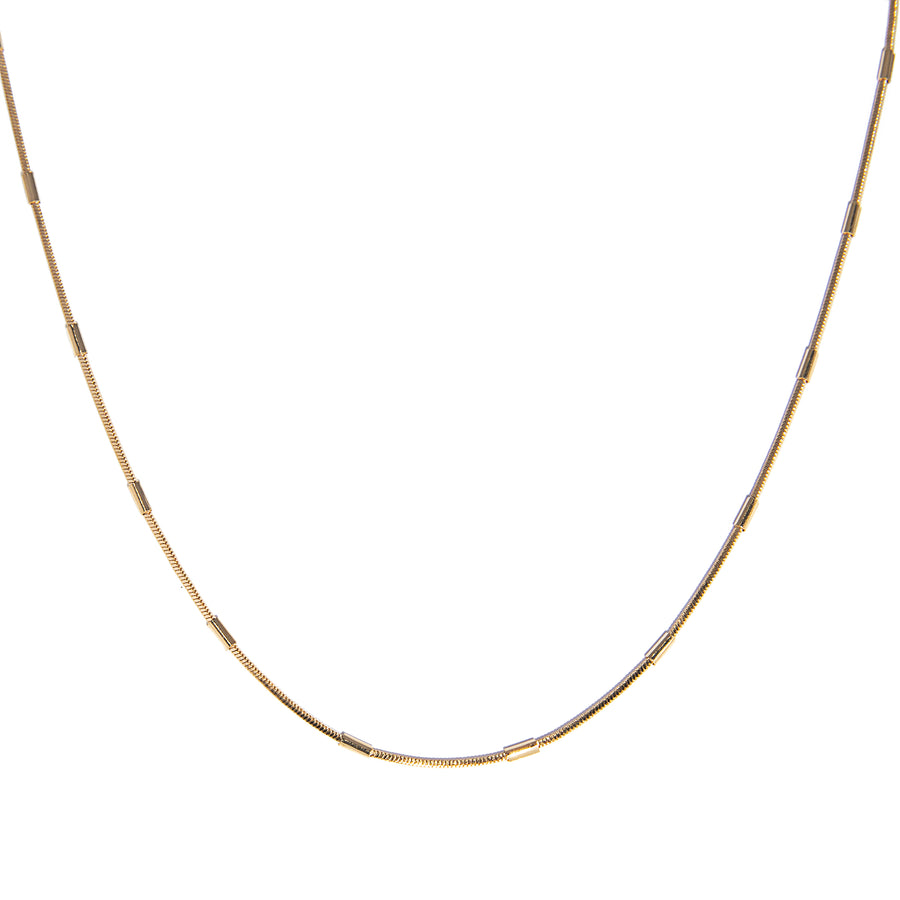 Bar Snake Chain Necklace - GF