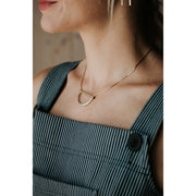 Geometric two tone necklace