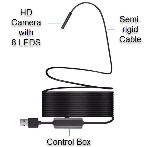 HD Wireless Snake Camera - Easily See Behind Walls, In Drains and Other Small Spaces