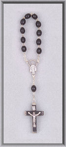 ONE DECADE ROSARY/BLACK WOOD - 042BK - Catholic Book & Gift Store