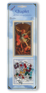 ST MICHAEL CHAPLET W/MULTI-COLORED BEADS - 092 - Catholic Book & Gift Store