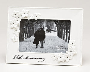 "8.5""H 25TH ANNIVERSARY FRAME - 10064"
