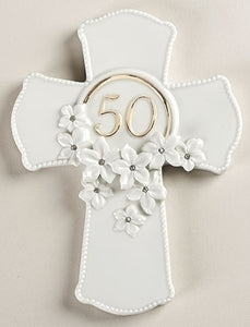 "7""H 50TH ANNIVERSARY CROSS - 10075 - Catholic Book & Gift Store"