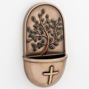 "6"" TREE OF LIFE HOLY WATER FONT - 10864 - Catholic Book & Gift Store"