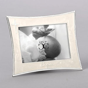 "5.5""H BAPTISM FRAME WITH SILVER CROSS"