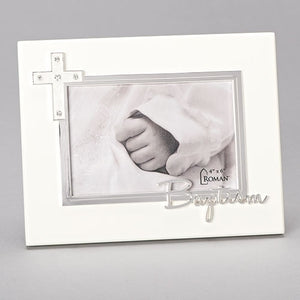 "7""H BAPTISM FRAME - HOLDS 4X6 CAROLINE COLLECTION"