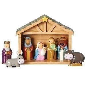 "6.75""H NATIVITY SCENE/8PC SET - 12692 - Catholic Book & Gift Store"