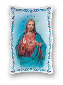 6X9 SACRED HEART OF JESUS PLAQUE - 1270.101