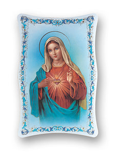 6X9 IMMACULATE HEART OF MARY PLAQUE - 1270.201