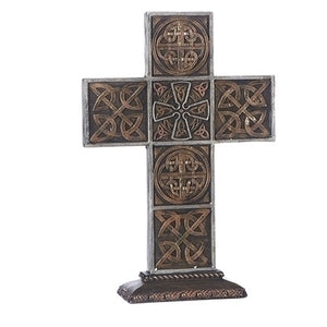 "13.5""H THICK CELTIC KNOT STANDING CROSS"